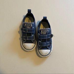Toddler Velcro converse, navy, size 8
